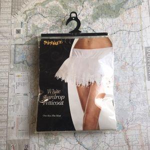 White Teardrop Petticoat Spirit Halloween